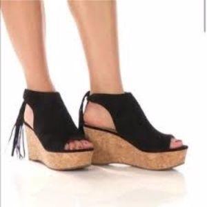 Marc Fisher Womens Sueann Black Sandals Size 7.5